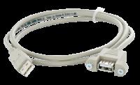 USB-A Durchführung Stift/Buchse mit 1m Leitung 4000-68000-9040110