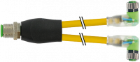 M12 Y-Vert. / M8 Bu. 90° LED 7000-40861-0100060