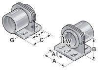 USH/D P21 Schlauchhalter Typ USH, drehbar, grau 83641212