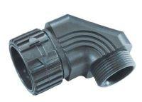 WSV M32x1,5/21 m-fix Schlauchverschraubung, 90°, schwarz 83605056