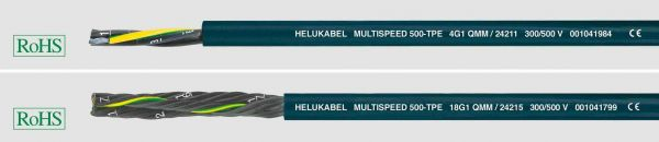 TPE-Schleppkettenleitung MULTISPEED® 500-TPE 12G1 mm² Ozeanblau