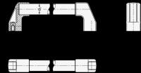 BÜGELGRIFF, NATURFARBEN ELOXIERT 667.2-30-1000-EL