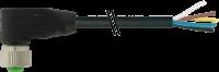 M12 Bu. gew. mit freiem Leitungsende 7000-19061-7022000