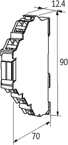 MIRO 12,4 110V-2U-FK Eingangsrelais