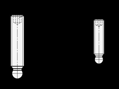 V2A - Madenschrauben - aus rostfreiem Edelstahl A2 25 St/ück - SC914 Gewindestifte mit Innensechskant und Spitze ISO 4027 DIN 914 SC-Normteile M8x8 -