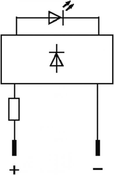 LED-Anzeigebaustein opac/ gelb