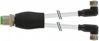 M12 Y-Verteiler / M8 Bu. 90° 7000-40841-2100200