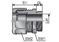m-seal EMC M25x1,5 10,0-18,0 Kabelverschraubung, Metall 84201806