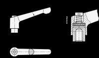VERSTELLB.KLEMMHEBEL, EDELSTAHL, ORANGE 300.1-108-M12-OS