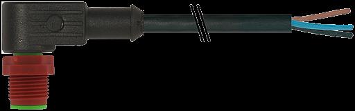 M12 230V St. gew.mit freiem Leitungsende 3p.C-Cod.