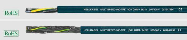 TPE-Schleppkettenleitung MULTISPEED® 500-TPE 2x0,5 mm² Ozeanblau