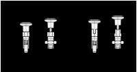 EDELSTAHL-RASTBOLZEN MIT RASTSPERRE UND KONTERM. 717-6-M12X1,5-CK-NI