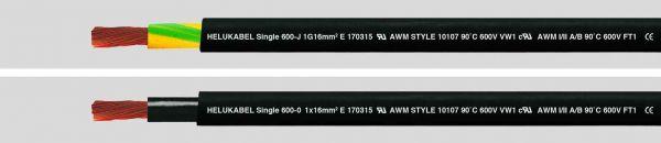 Aderleitung UL/CSA Single 600 1G16 mm² (6 AWG) Schwarz