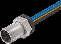 MQ15-X-Power Flanschbuchse geschirmt VM gerade 7000-P8391-P800025