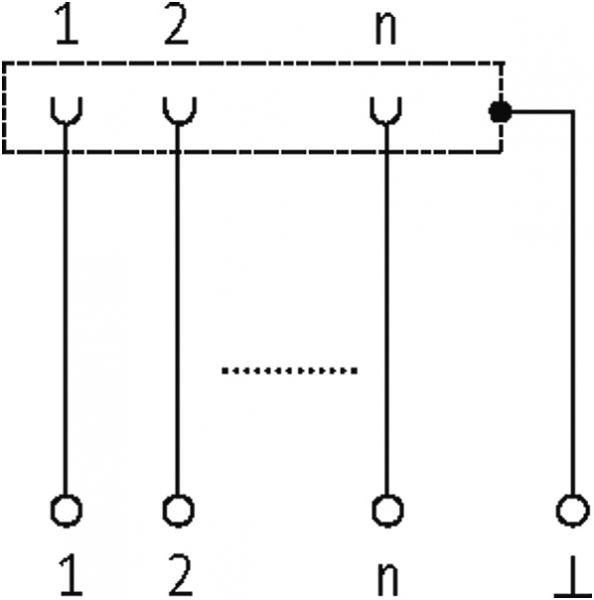 SV-SUB D 15St.-KL Übergabebaustein