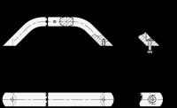MASCHINENGRIFF, ELOXIERT 428-AL-28-250-A-EL