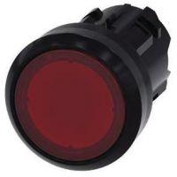 Drucktaster, beleuchtet, 22mm, rund, rot, Druckknopf 3SU1001-0AB20-0AA0