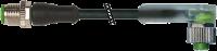 M12 St. ger. auf M12 Bu. gew. mit LED 7000-40321-6330300
