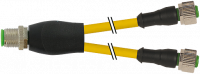 M12 St. Y-Verteiler / M12 Bu. 0° 7000-40701-0230500