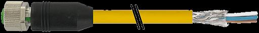 M12 Bu ger. 6pol,mit freiem Ltg-ende,Cube67-Safety