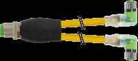 M12 Y-Vert. / M8 Bu. 90° LED 7000-40861-0500100