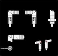 EDELSTAHL-RASTRIEGEL, RECHTS, MIT RASTUNG + KAPPE 721.6-10-M20X1,5-RB