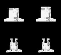 AUSGLEICH-STELLFUß, EDELSTAHL, MIT KONTERMUTTER 360-79-M10-69-B-NI