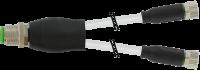 M12 St. Y-Verteiler / 2x M8 Bu. 0° 7999-40821-2330400