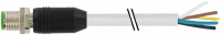 M12 St. ger. mit freiem Leitungsende 7000-17001-2920150