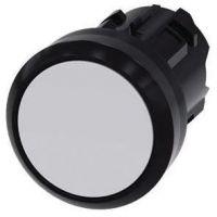 Drucktaster, 22mm, rund, weiß, Druckknopf 3SU1000-0AB60-0AA0