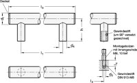 EDELSTAHL-ROHRGRIFF, DECKEL EDELSTAHL 666.7-30-M8-200-E
