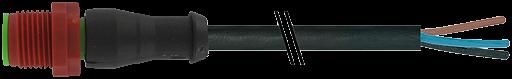M12 230V St. ger.mit freiem Leitungsende 3p.C-Cod.