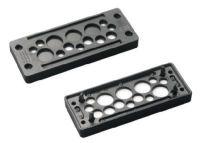 KDP/N 24/29 Kabeldurchführungsplatte, schwarz, offen, VE=100 Stück 87301182
