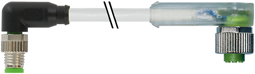 M8 St. 90° / M12 Bu. 90° LED