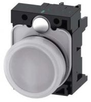 Leuchtmelder, 22mm, rund, weiß, Linse, glatt, AC/DC 24V 3SU1102-6AA60-1AA0