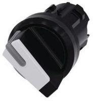 Knebelschalter, beleuchtbar, 22mm, rund, schwarz, weiß 3SU1002-2BF60-0AA0