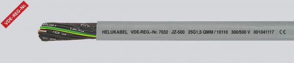 PVC-Steuerleitung JZ-500 8G1 mm² Grau