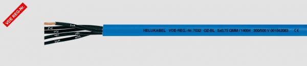 Eigensichere PVC-Steuerleitung OZ-BL 12x0,75 mm² Blau