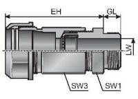 MECSKV 09 4x1,4 m-tec Schlauch- und Kabelverschraubung, schwarz 83582412