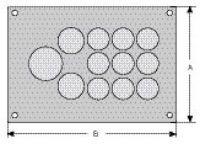 cablequick ® KDP 105/32 Kabeldurchführungsplatte, V4A 87663012