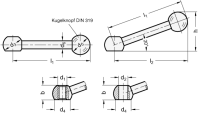 KUGELGRIFF, GERADE 6337-100-B12-K