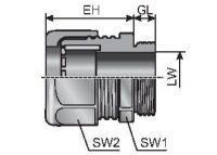 m-seal EMC M50x1,5 30,0-38,0 Kabelverschraubung, Metall 84201812
