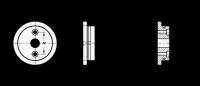BEZUGSFLANSCH MIT REIBRING 723.3-33,5-B6-A