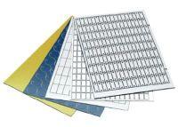 DM 65x40 WS/SW R HF Duomatt, weiß/schwarz, Radius, haftend, 4x3,0mm 8601126007