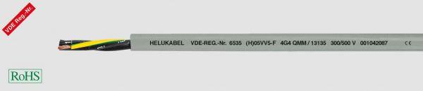 PVC-Steuerleitung (H)05VV5-F 5G4 mm² Grau