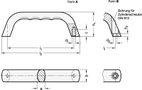BÜGELGRIFF, BLANK 328-120-A-BL