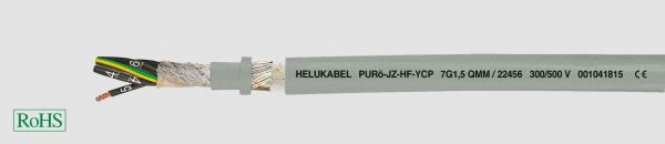 PUR-Schleppkettenleitung PURö-JZ-HF-YCP 5G0,75 mm² Grau