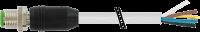 M12 St. ger. mit freiem Leitungsende 7000-17001-2950150