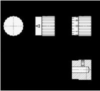EDELSTAHL-DREHKNOPF MIT SKALIERUNG 436.1-24-B5-S-MT