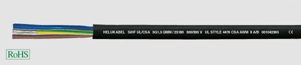Wärmebeständige Leitung SiHF UL/CSA 3G2,5 mm² (14 AWG) Schwarz